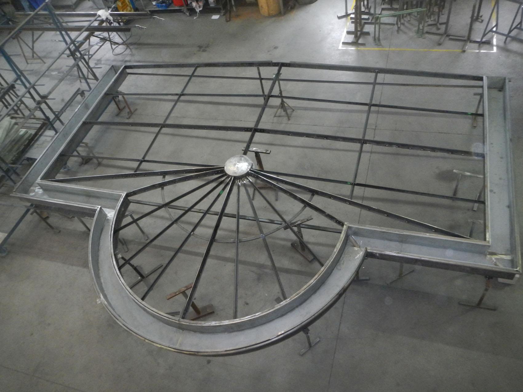 charpente véranda acier Atelier 5