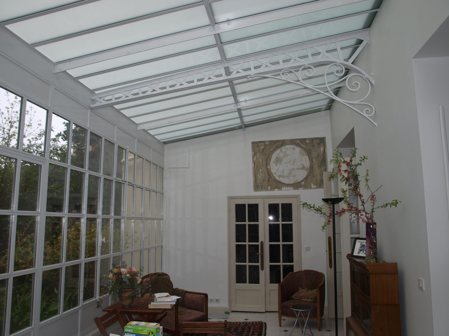 intérieur veranda acier 3