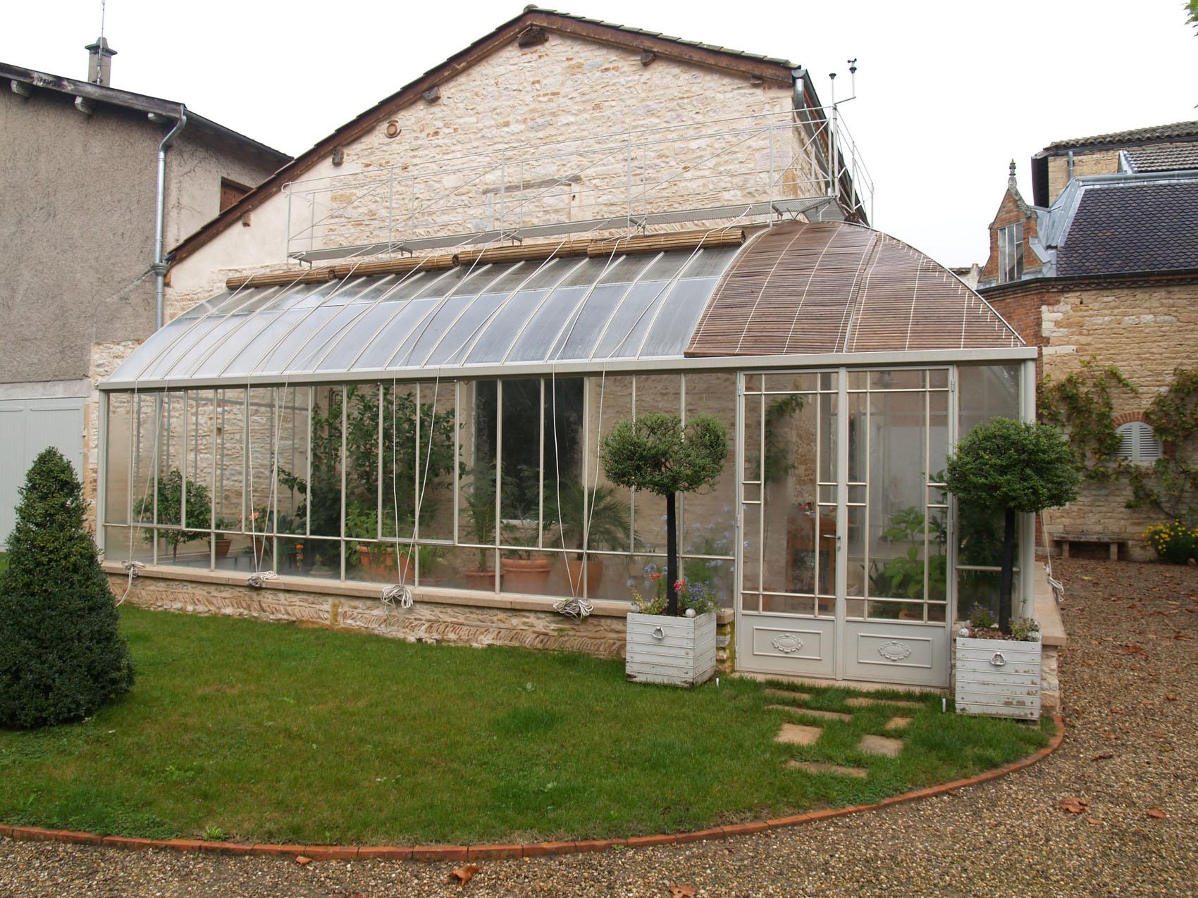 lean to greenhouses serres et fer ron ne ries d antan. Black Bedroom Furniture Sets. Home Design Ideas