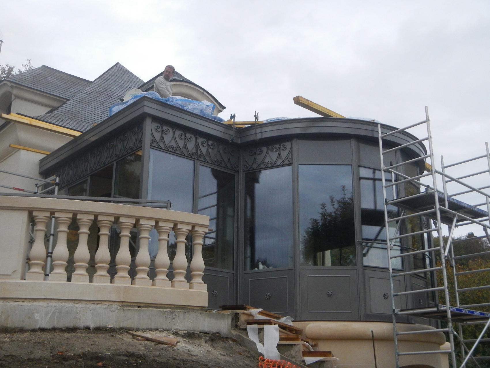 veranda acier montage 2