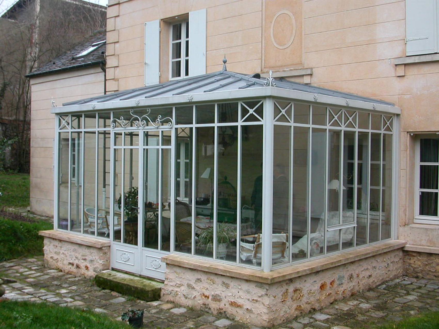 veranda acier toit zinc 4